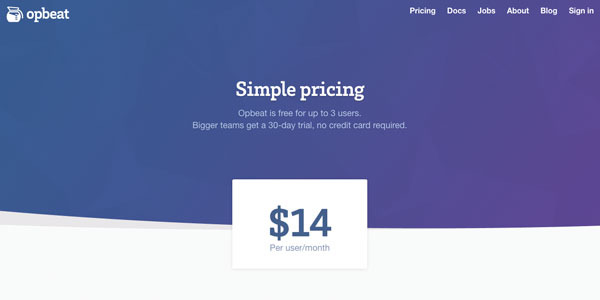 Opbeat super simple pricing   petithacks